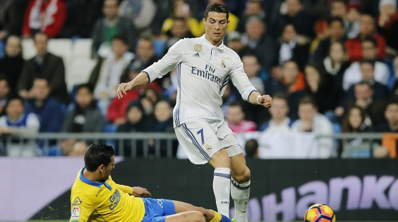 Cristiano Ronaldo struck twice in an incredible finale to salvage a point. (Photo: AP)