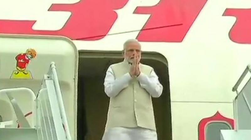 Prime Minister Narendra Modi arrives in Russia's Sochi for an informal summit with President Vladimir Putin. (Photo: ANI | Twitter)