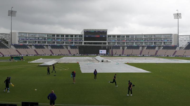 The Sri Lanka versus Bangladesh match was also abandoned due to rain. (Photo: AFP)