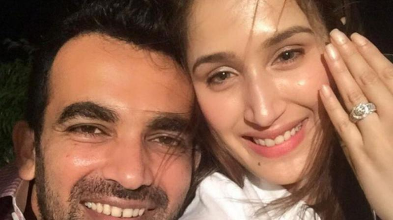 Zaheer Khan on Monday announced that he has finally sealed the deal with a dazzling rock on his girlfriend Sagarika Ghatge's finger. (Photo: Twitter | Zaheer Khan)