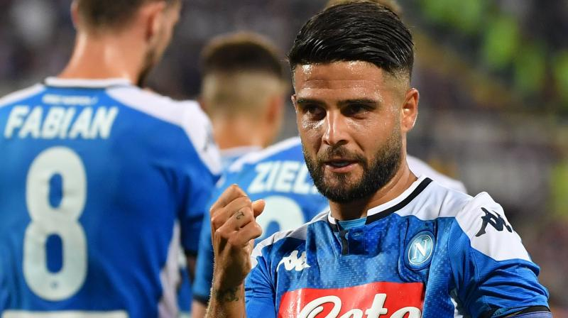 Napoli's Lorenzo Insigne was awarded the match of the match for putting up a wonderful display by scoring two goals. (Photo: AFP)