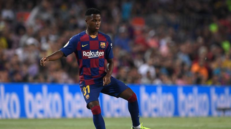 Ansu Fati became the second-youngest player to represent the Catalan giants in La Liga aged 16 years and 298 days. (Photo: AFP)