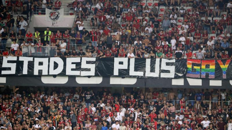 French league game stopped after fans unveil homophobic banners