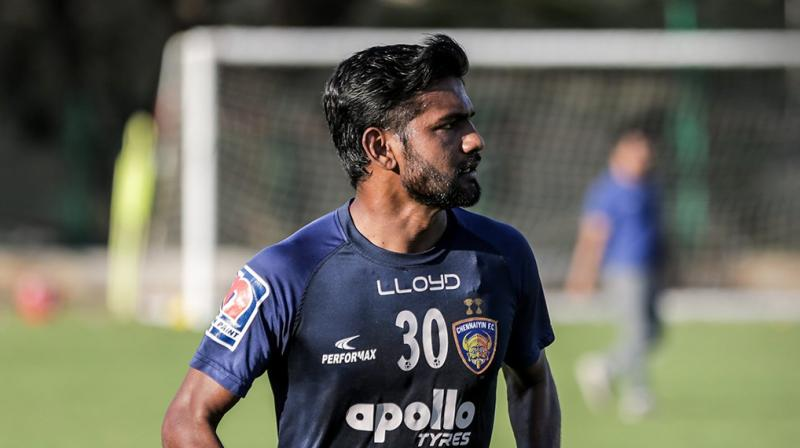 Francis made a total of 37 appearances in all competitions for CFC over the two years and was a versatile presence across midfield. (Photo: Twitter/ Chennaiyin FC)