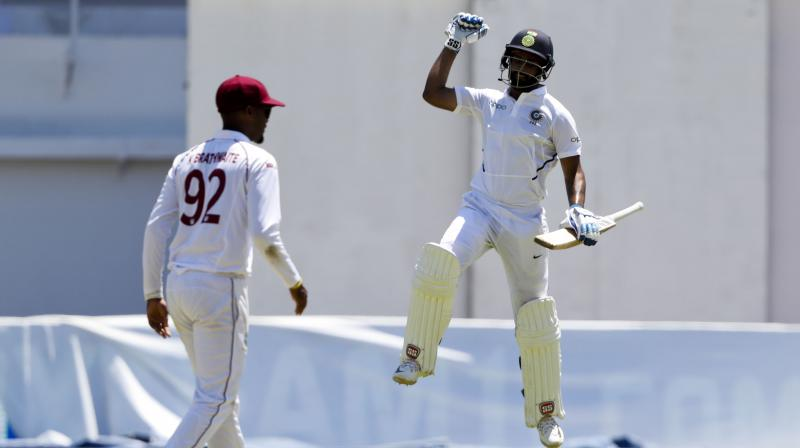 Hanuma Vihari scored 111 runs and helped India to post a total of 416 runs in the first innings. (Photo: AP)
