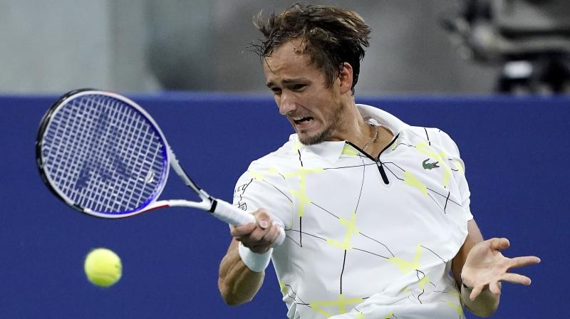 Daniil Medvedev, who won the Cincinnati Masters earlier this month, was fined USD 7,500 for verbal abuse in the first round and USD 2,500 for throwing his racket in the second round. (Photo: AFP)