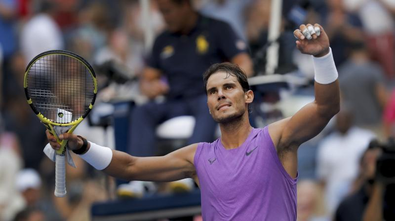 Rafael Nadal cruised into the U.S. Open fourth round with a business-like 6-3 6-4 6-2 win over Chung Hyeon on Saturday