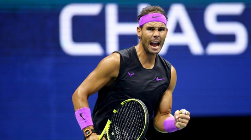 Nadal fired a forehand winner on match point to seal the victory and make his 40th quarter-final at a Grand Slam event. (Photo: AFP)
