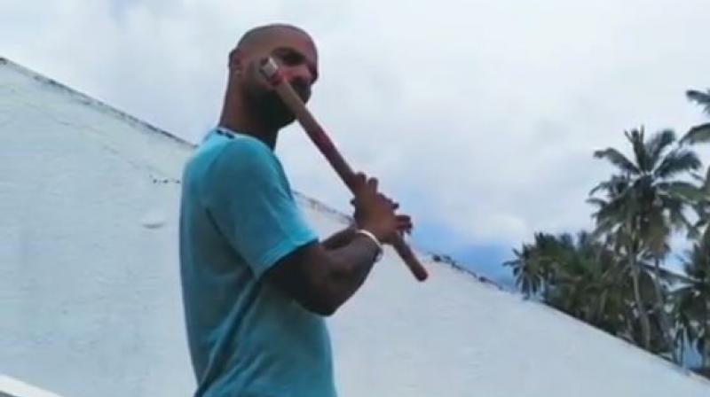 The India opener posted a video of him playing the flute on his Instagram handle. (Photo: Instagram/ screengrab)