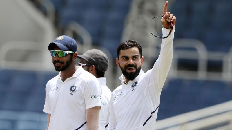 Other than his obvious batting talent, Virat Kohli is also known to be a splendid fielder and has often proved his worth on the playing field. (Photo: AP/PTI)