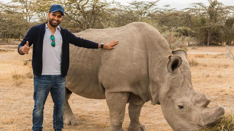 In a campaign launching on Animal Planet to commemorate World Rhino Day on September 22, Rohit pledges to do his bit to save the