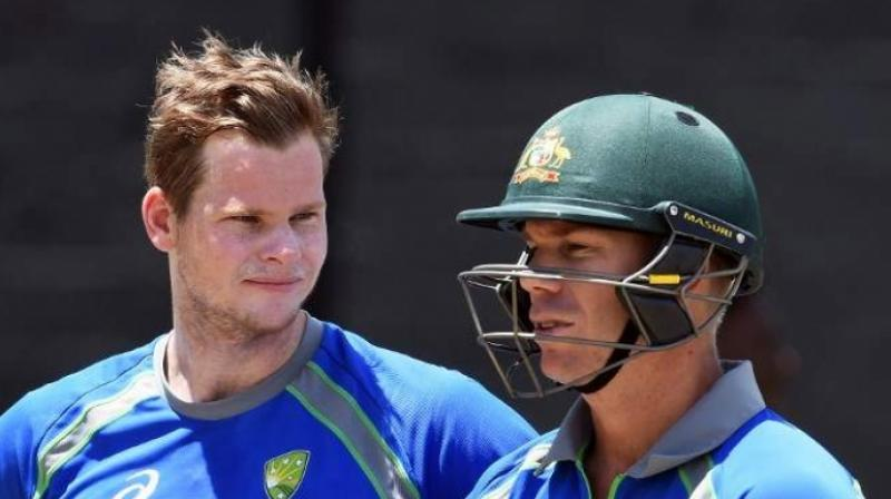 Steve Smith has been in a phenomenal form in the Ashes series, while the same could not be said of his compatriot David Warner. (Photo: AFP)
