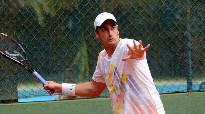 Diego Matos is currently ranked 373 in doubles, with a highest singles ranking of 580 in April 2012. (Photo: Twitter)