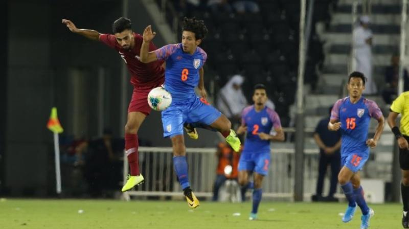 What makes this result remarkable is the fact that on the FIFA rankings, India is at 103rd position while Qatar is on 62nd. (Photo: Twitter)