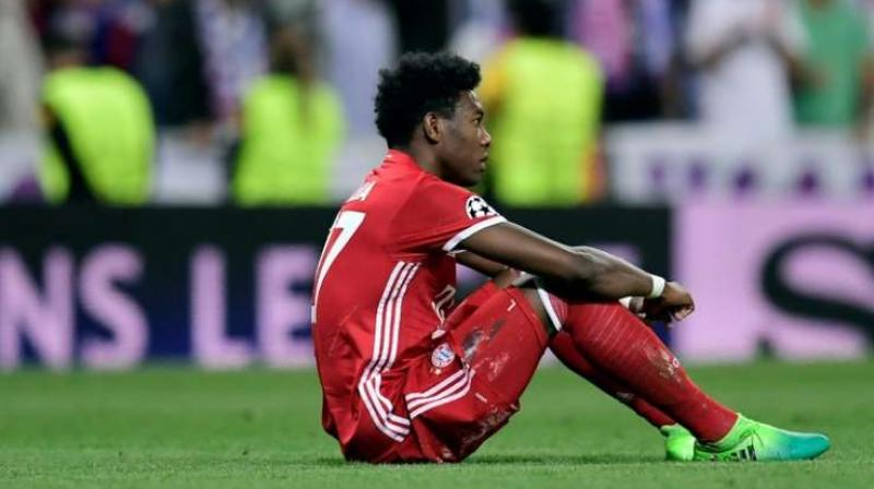 David Alaba picked up the injury while warming up for Saturday's Bundesliga match against RB Leipzig, which ended in a 1-1 draw. (Photo: AFP)