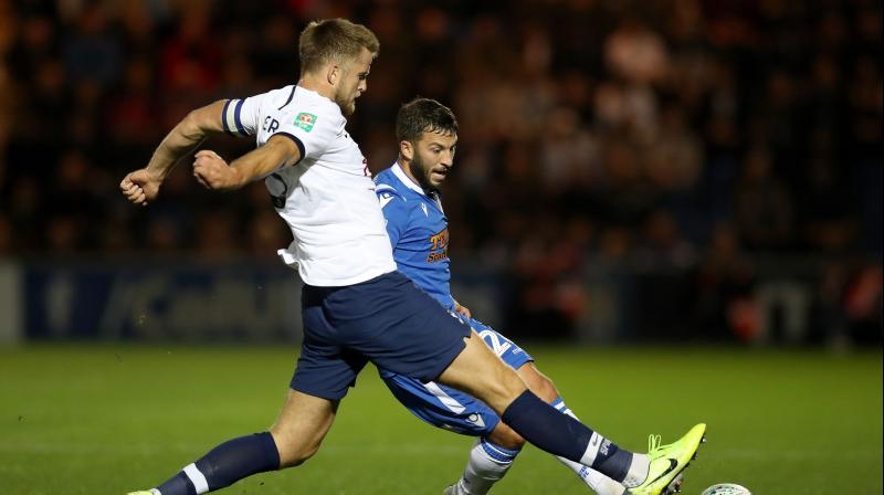 It was the first time Tottenham manager Pochettino's Tottenham Hotspur had been knocked out of a domestic cup competition against lower-league opposition. (Photo: AFP)