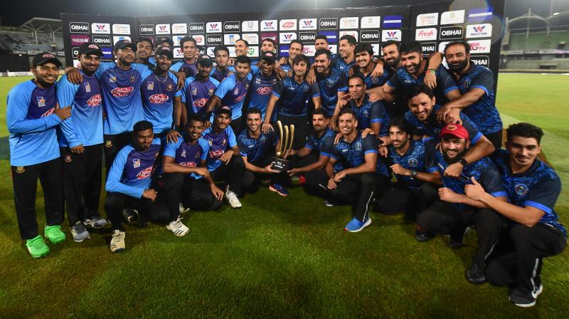 Bangladesh got a hand on the trophy of a Twenty20 tournament involving more than two teams for the first time in their history. (Photo: AFP)