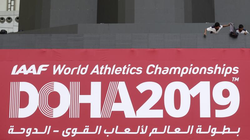 Medal is too far-fetched a thought and even hopes of making the finals seem barely believable as India enters the World Athletics Championship without two of their biggest stars -- the injured Neeraj Chopra and Hima Das. (Photo: AP)
