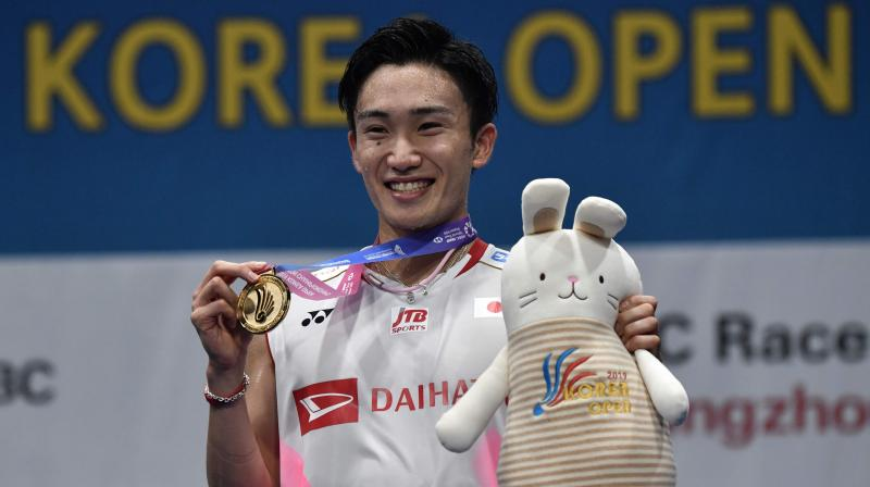 Kento Momota defeated Tien-Chen 21-19, 21-17 to clinch the final that lasted for almost 53 minutes. (Photo: AFP)
