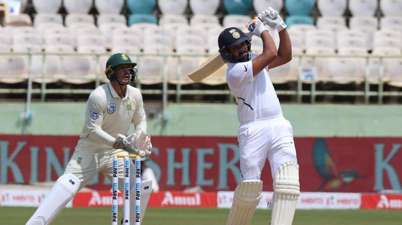 After an early bump, Rohit Sharma wasted no time in getting back to what he does best, scoring plenty of runs. (Photo: Twitter/ BCCI)