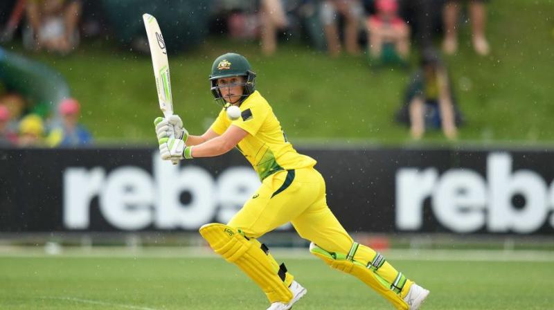 Alyssa Healy reached the world record with a six in the penultimate over, eclipsing teammate Meg Lanning's previous mark of 133 not out against England in July. (Photo: AFP)