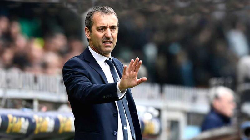 The 52-year-old, Marco Giampaolo struggled from the outset at cash-strapped Milan, who surrendered their Europa League berth this season after breaching UEFA's financial fair play rules. (Photo: AFP)