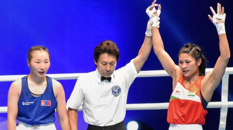 Jamuna Boro defeated the Algerian, an African Games gold-medallist, 5-0 to make the last-eight and be just one win away from securing her maiden world medal, that too on debut. (Photo: PTI)