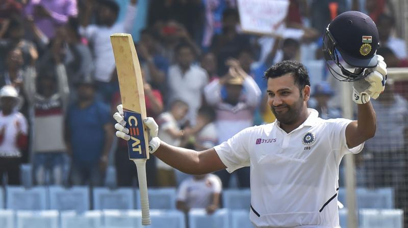 Rohit Sharma has amassed 529 runs from four innings thus becoming the only fifth Indian opener to score 500-plus runs in a Test series. (Photo :PTI)