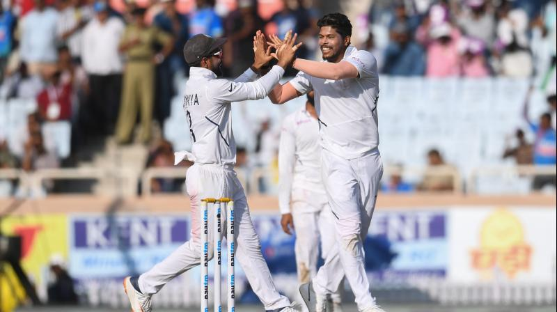 While Dean Elgar suffered from a concussion, unable to evade a Umesh Yadav bouncer, the likes of Zubayr Hamza, Temba Bavuma were beaten by sheer pace and the length that Yadav and Shami bowled. (Photo: AFP)