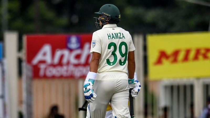 South Africa batsman Zubayr Hamza rated his team's performance as 'poor' after India bowlers took 16 wickets on day three. (Photo: AFP)