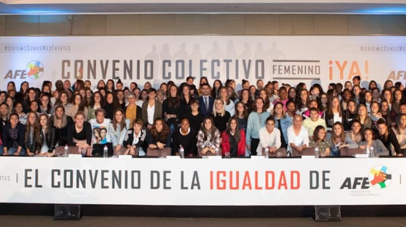 The vote late Tuesday won the support of 93 per cent of 188 players from 16 clubs after more than a year of failed negotiations with the Association of Women's Football Clubs (ACFF). (Photo: Association of Women's Players (AFE)