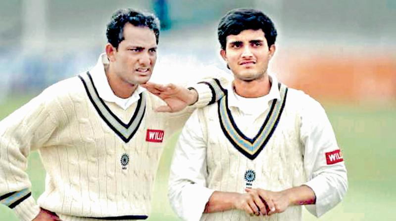 Mohammad Azharuddin, who was Sourav Ganguly's first international captain, is happy to see him grow in his role as an administrator. (Photo: DC File Photo)