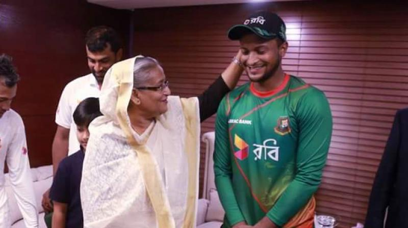 Bangladesh PM Sheikh Hasina insisted that Shakib Al Hasan's failure to report corrupt approaches was a mistake from which he will learn and bounce back as a wiser player. (Photo: Twitter)