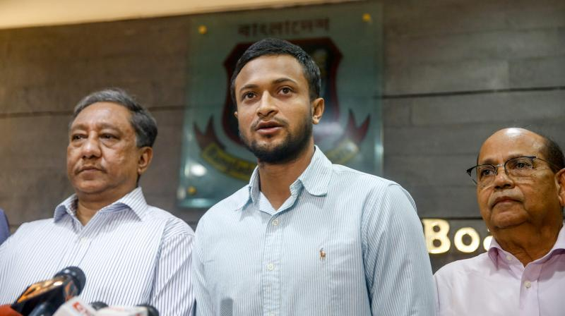 On January 19, 2018, Shakib AL Hasan received a message from Aggarwal congratulating him for being named man of the match in the tri-series involving Bangladesh, Zimbabwe, and Sri Lanka. (Photo: AFP)