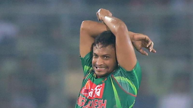 In January 2018, Shakib Al Hasan was selected as part of the Bangladesh team participating in a Tri-Series between Bangladesh, Sri Lanka and Zimbabwe. During this series, he and Aggarwal engaged in further WhatsApp conversations. (Photo: AFP)