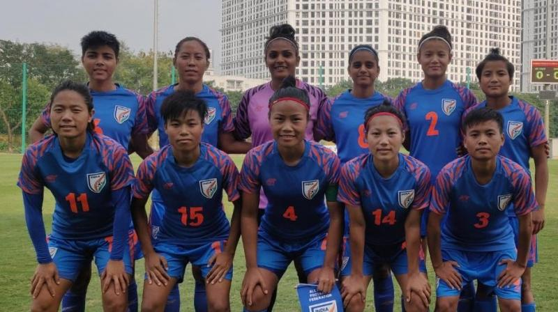 Thai Thi Thao put the hosts in the lead in the 39th minute at the National Training Centre ground before India came back strongly in the second half to equalise through Ranjana Chanu in the 57th minute. (Photo: Twitter/ Indian Football)
