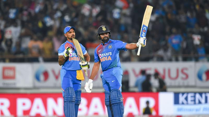 Such was Rohit Sharma's dominance during the 118-run opening stand that it managed to overshadow Shikhar Dhawan's (31 off 27 balls) wretched form. (Photo: PTI)