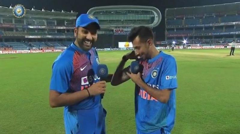 Rohit Sharma was on 'Chahal TV', an interview-based show conducted by Yuzvendra Chahal for the BCCI's official website. (Photo: Twitter/ BCCI)