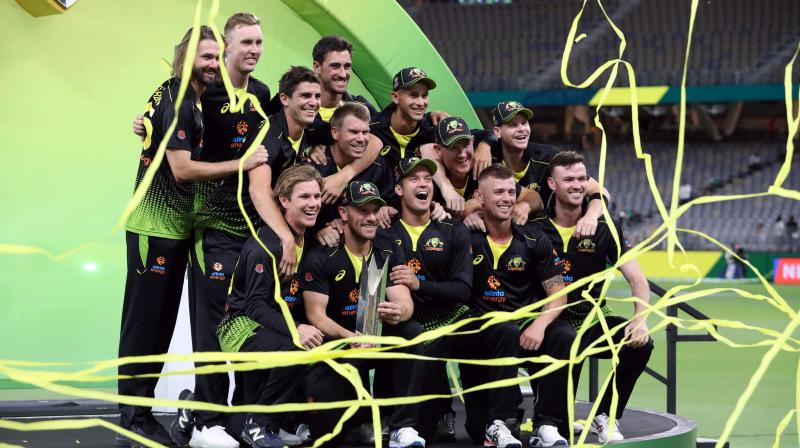 Australia's victory in Perth has them on an impressive eight-game winning streak in the short format as they build towards the T20 World Cup on home soil next year. (Photo: AFP)