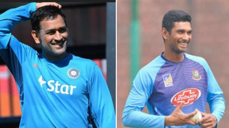 Bangladesh skipper Mahmudullah Riyad's captaincy has traits of Mahendra Singh Dhoni's leadership, feels former India seamer Irfan Pathan. (Photo: AFP Collage)