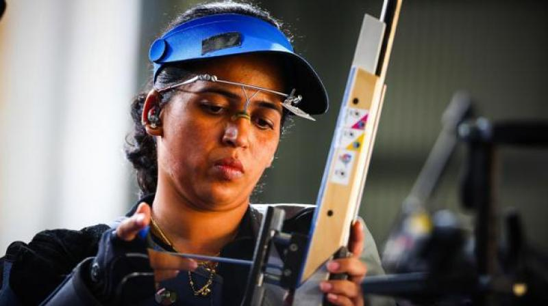 Tejaswini Sawant, who also competes in the 50m rifle prone, has won many medals, including gold at the World Championship, World Cup and the Commonwealth Games. (Photo: AFP)