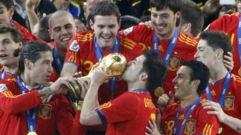David Villa has represented Sporting Gijon, Zaragoza, Valencia, Barcelona and Atletico Madrid in the domestic circuit. (Photo: AFP)