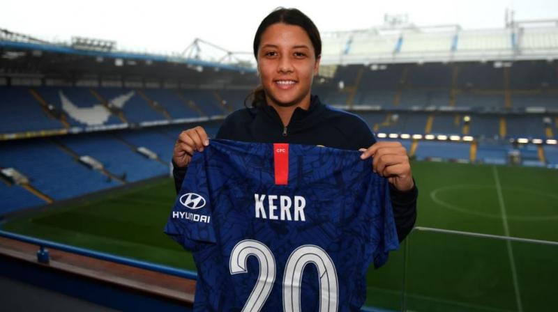 The 26-year-old Samantha Kerr bagged the MVP title after scoring a record 19 goals in 23 games to secure a third-consecutive golden boot. (Photo: Twitter/ Chelsea Ladies)