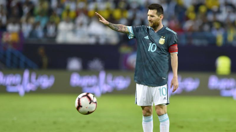 During the match, both Lionel Messi and Tite were seen exchanging words in the first half. (Photo: AP)