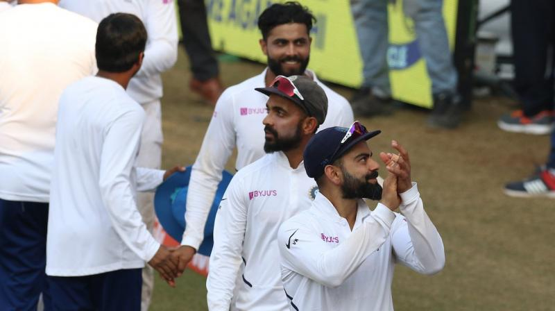 India defeated Bangladesh by an innings and 130 runs to win the first match of the two-match Test series. (Photo: Twitter/ BCCI)