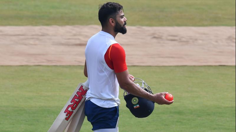 Virat Kohli and Co. will be looking to strike Bangladesh in this historic Test and wrap up the two-match Test series with a win. (Photo: AFP)