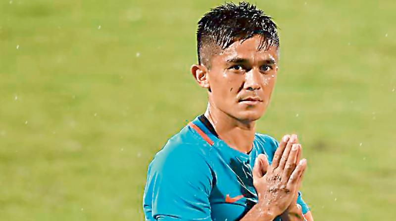 Indian men's football team captain Sunil Chhetri on Tuesday signed a three-year deal with global sports giant, PUMA. ( Photo:DC File)