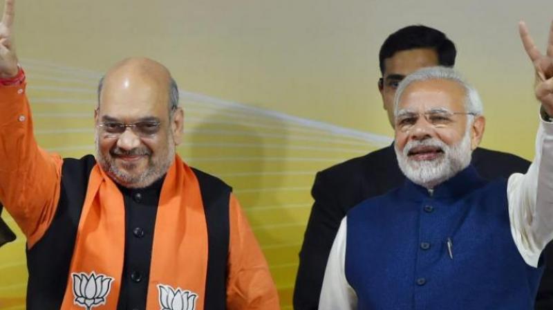 BJP national President Amit Shah and Prime Minister Narendra Modi (Photo: PTI)