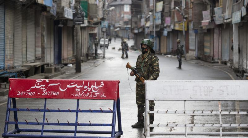 Thousands of security personnel remain positioned across the state to keep a check on any trouble following the Centre's decision to scrap Article 370 which gave special status to the state. (Photo: AP)
