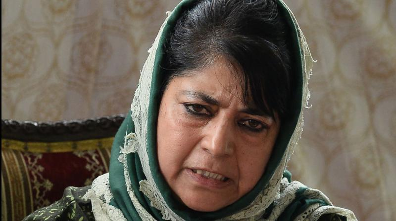 Former Jammu & Kashmir chief minister Mehbooba Mufti. (File photo)